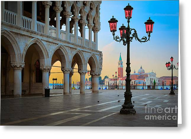 Doge Greeting Cards - Palazzo Ducale Greeting Card by Inge Johnsson