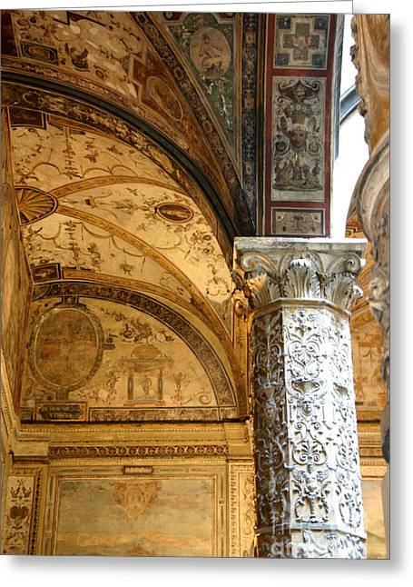 Gilding Greeting Cards - Palazzo Vecchio, Florence Greeting Card by Holly C. Freeman