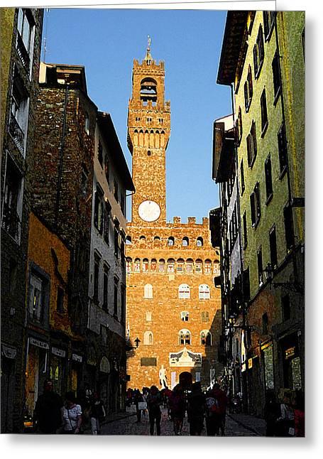 Palazzo Vecchio In Florence Italy Greeting Card by Irina Sztukowski