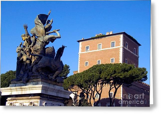 Umbrella Pine Greeting Cards - Palazzo Venezia Greeting Card by Tim Holt