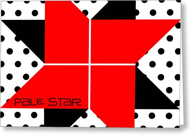 Art Quilt Greeting Cards - Pale Star Greeting Card by Methune Hively