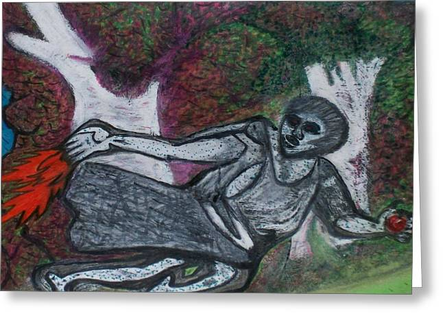 Renaissance Pastels Greeting Cards - Paleolithic Era Man Greeting Card by Jonathon Hansen
