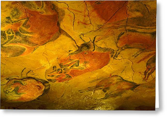 Cave Greeting Cards - Paleolithic Paintings, Altamira Cave Greeting Card by Panoramic Images