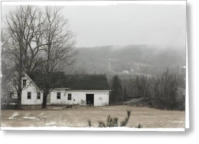 Maine Farmhouse Greeting Cards - Palermo Farmhouse Greeting Card by John Meader