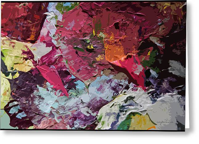 Abstraction Paintings Greeting Cards - Palette Abstraction #1 Greeting Card by John Lautermilch