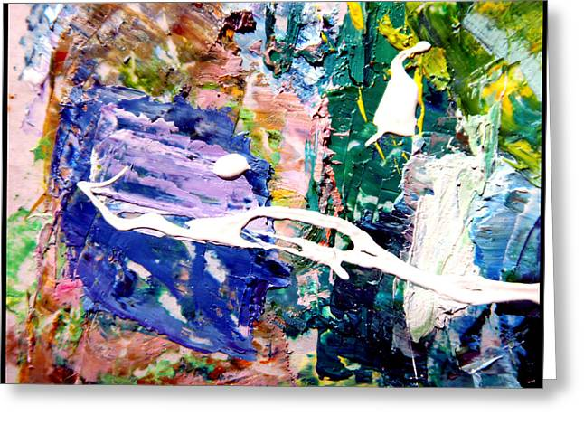 Abstraction Paintings Greeting Cards - Palette Abstraction #10 Greeting Card by John Lautermilch