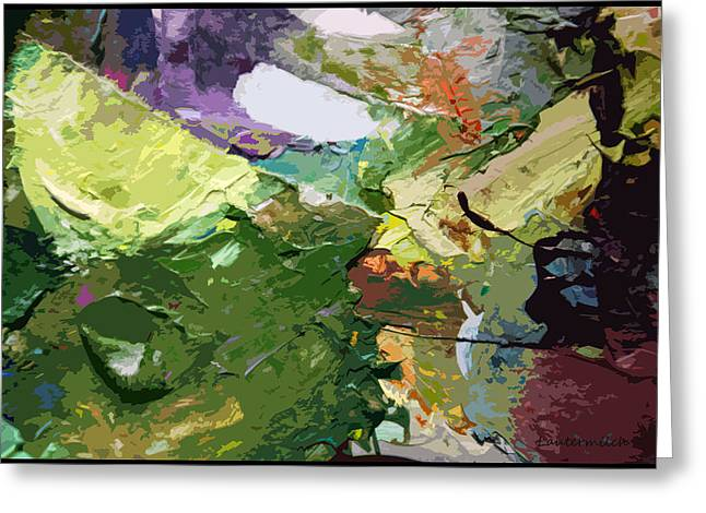 Abstractions Greeting Cards - Palette Abstraction #2 Greeting Card by John Lautermilch