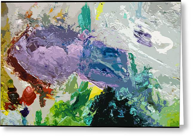 Abstractions Greeting Cards - Palette Abstraction #4 Greeting Card by John Lautermilch