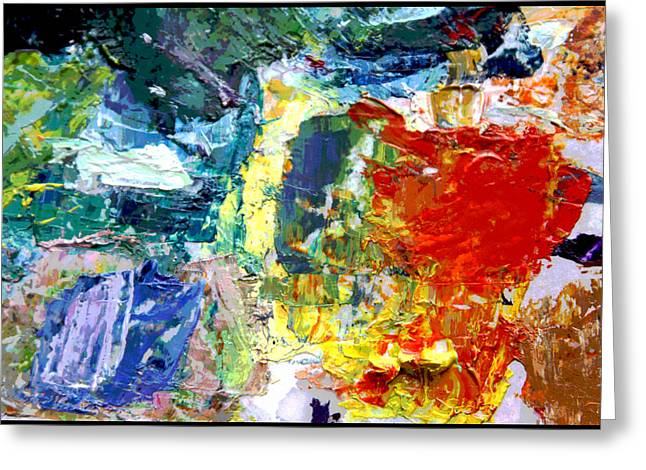 Abstractions Greeting Cards - Palette Abstraction #5 Greeting Card by John Lautermilch