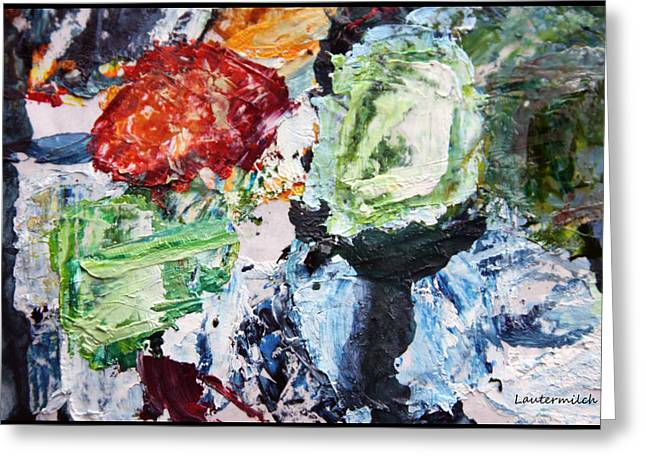 Abstractions Greeting Cards - Palette Abstraction #6 Greeting Card by John Lautermilch