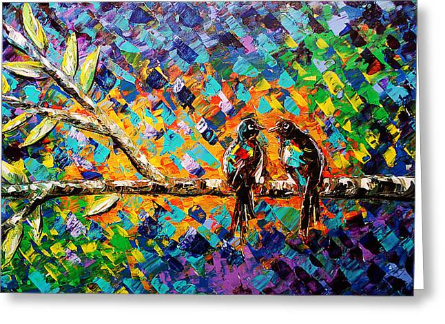 Paula Shaughnessy Greeting Cards - Palette Knife 4 Greeting Card by Paula Shaughnessy
