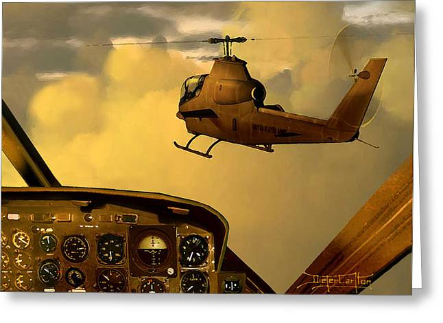 Dieter Carlton Greeting Cards - Palette of the Aviator Greeting Card by Dieter Carlton