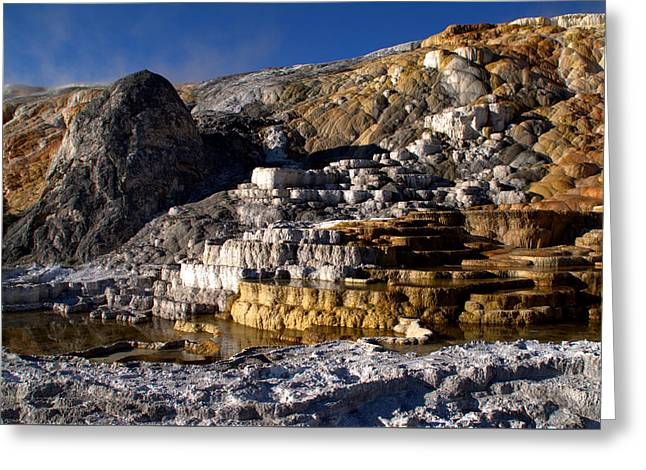Mammoth Terrace Greeting Cards - Palette Spring Terrace Greeting Card by Brian Harig