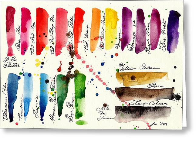 Les Couleur Greeting Cards - Palette Greeting Card by Tiberiu Soos