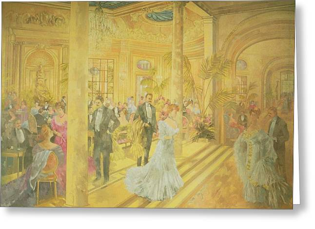 Edwardian Greeting Cards - Palm Court - Winter At The Ritz Greeting Card by Peter Miller