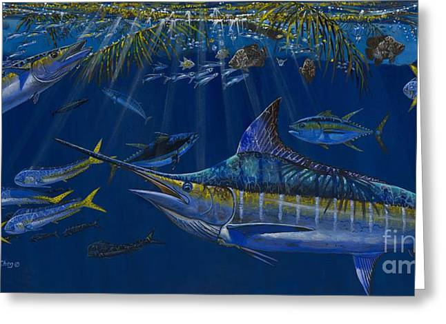 Black Marlin Greeting Cards - Palm Cover OFF00148 Greeting Card by Carey Chen