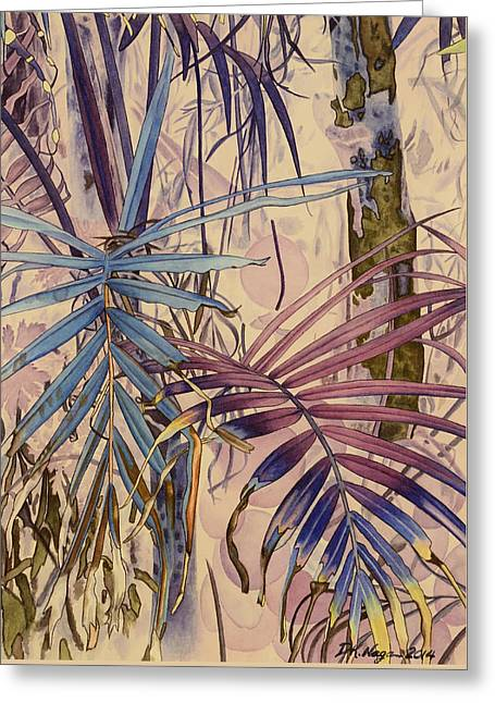 Palm Forest Greeting Card by DK Nagano