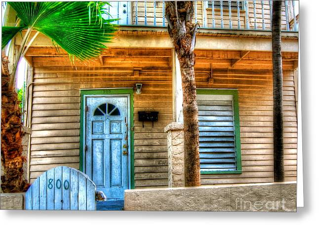 Florida House Greeting Cards - Palm House Greeting Card by Debbi Granruth