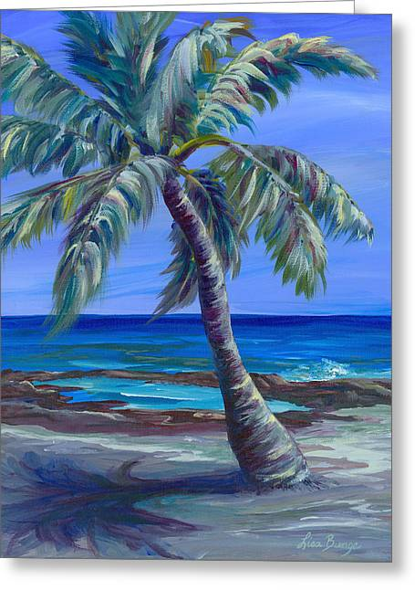 Park Scene Paintings Greeting Cards - Palm in Paradise Greeting Card by Lisa Bunge