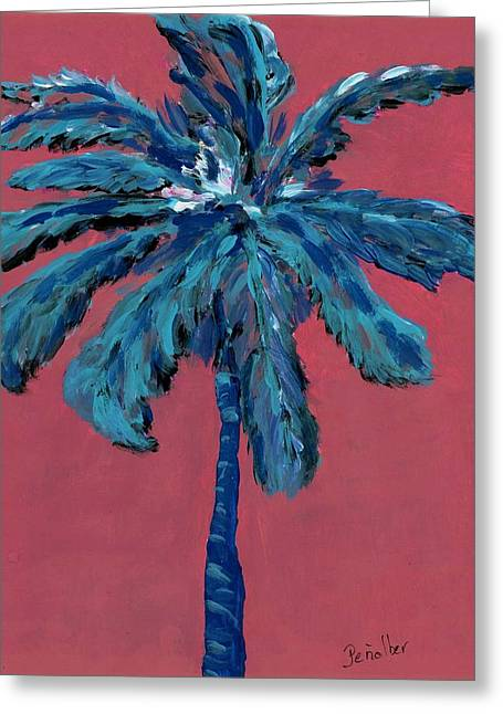 Palm On Pink  Greeting Card by Oscar Penalber