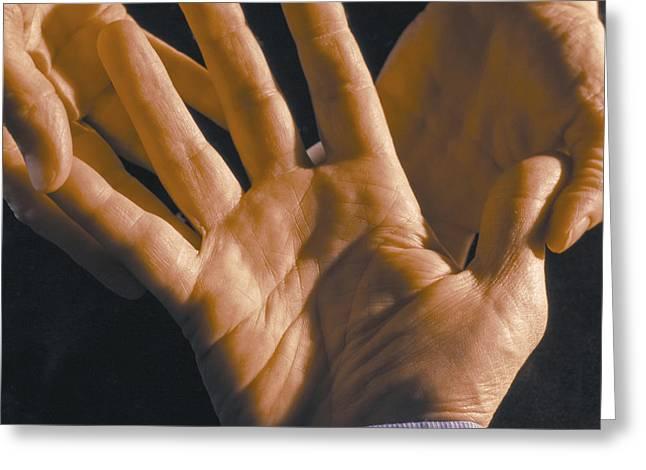 Palm Reader Hand Greeting Cards - Palm Reader Greeting Card by Ken  Tannenbaum