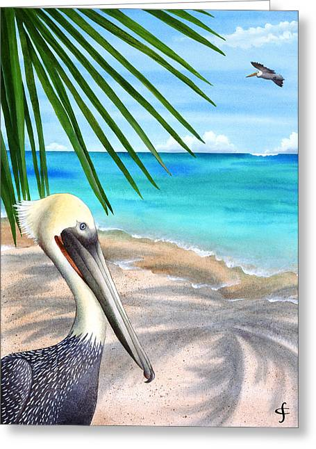 Frond Greeting Cards - Palm Readings Greeting Card by Carolyn Steele