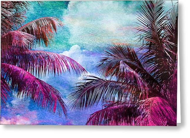 Palmscape Paradise Greeting Card by Laura Fasulo