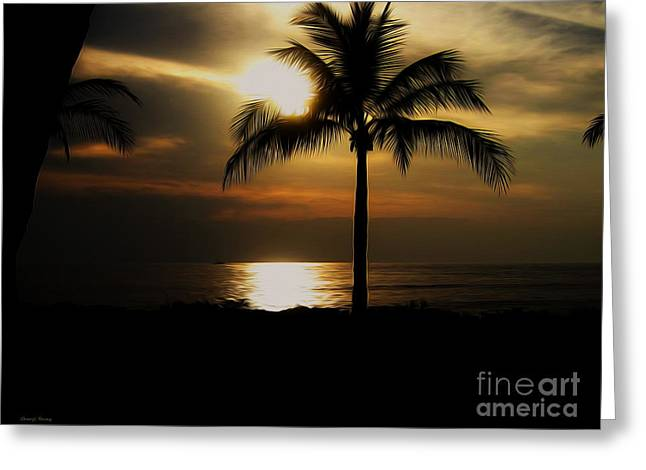 Reception Greeting Cards - Palm Silhouette 2 Greeting Card by Cheryl Young
