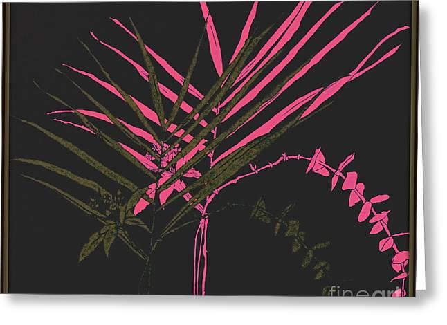 Eucalyptus Sprig Greeting Cards - Palm Sprigs Mod Greeting Card by Beth Saffer