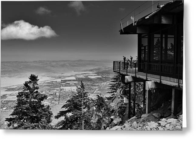 Aerial Tramway Greeting Cards - Palm Springs Aerial Tramway View Greeting Card by David Lobos