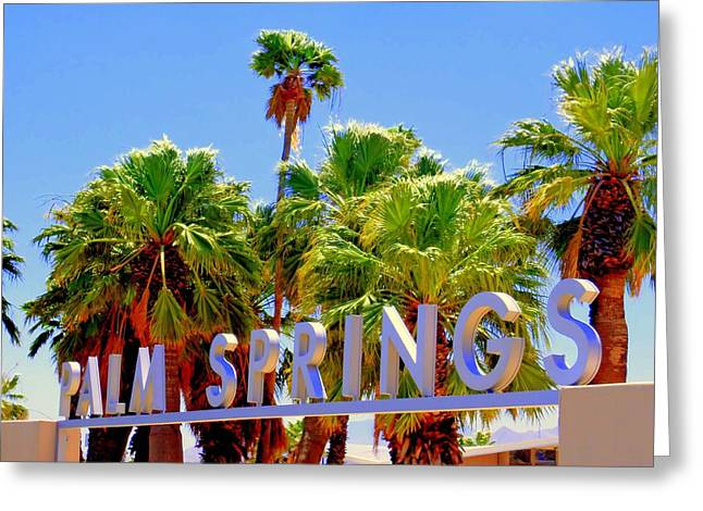 Visitor Center Greeting Cards - Palm Springs Gateway Visitor Center Greeting Card by Randall Weidner