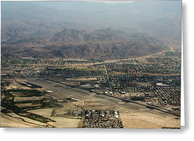 Palm Springs Airport Greeting Cards - Palm Springs International Airport Greeting Card by John Daly