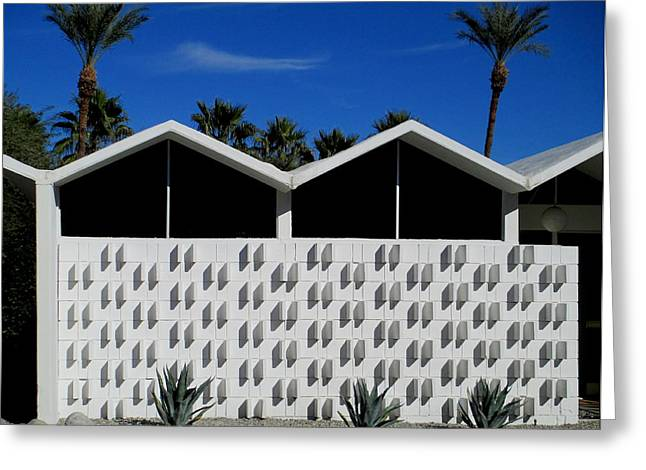 Modernism Greeting Cards - Palm Springs Park Imperial South Greeting Card by Randall Weidner