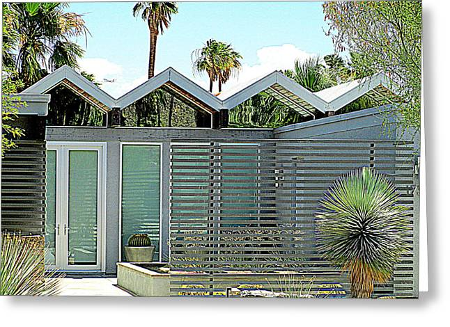 Modernism Greeting Cards - Palm Springs This Century Modern One Greeting Card by Randall Weidner