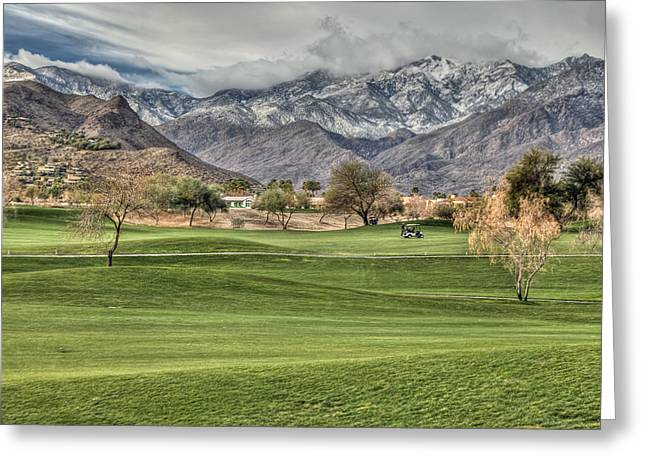 Playing Digital Art Greeting Cards - Palm Springs Winter Greeting Card by Matthew Bamberg