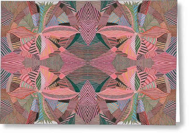 Multihued Greeting Cards - Palm Tree Greeting Card by Rahel TaklePeirce