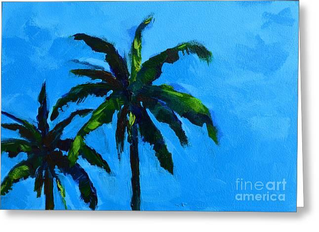 Palm Trees at Miami Beach Greeting Card by Patricia Awapara