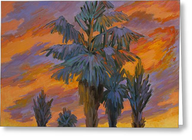 Palm Springs Greeting Cards - Palm Trees Can Glow Greeting Card by Diane McClary