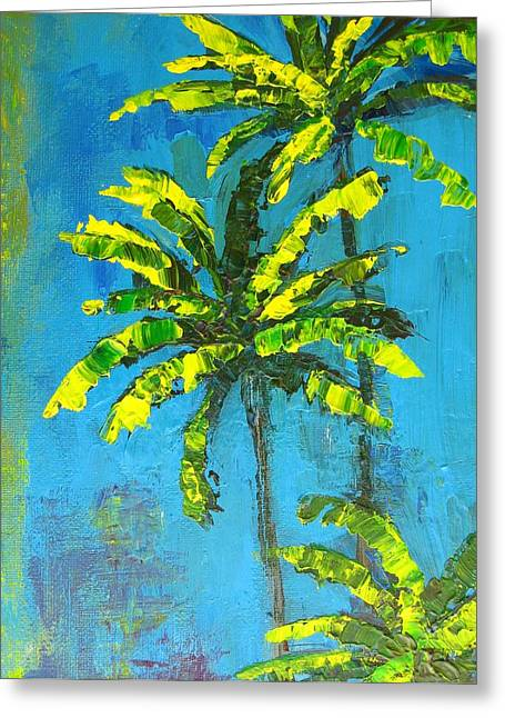 Beach House Decor Posters Greeting Cards - Palm Trees Greeting Card by Patricia Awapara