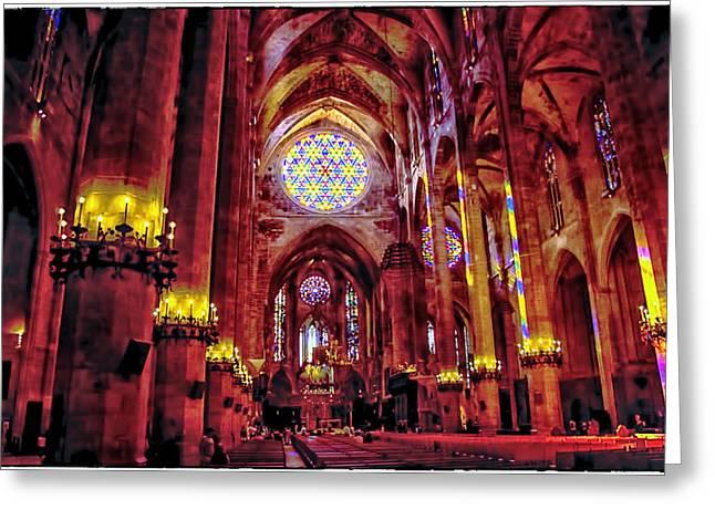 Seu Greeting Cards - Palma de Mallorca Cathedral - Majorca Spain Greeting Card by Jon Berghoff