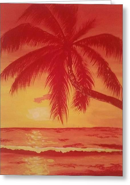 Paradise Road Greeting Cards - Palmas Greeting Card by Jose Lopez