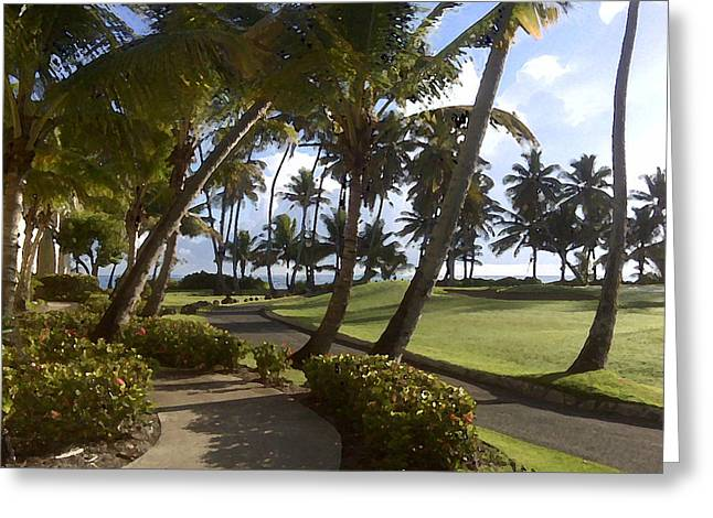 Puerto Rico Golf Course Greeting Cards - Palmas Greeting Card by Julio R Lopez Jr