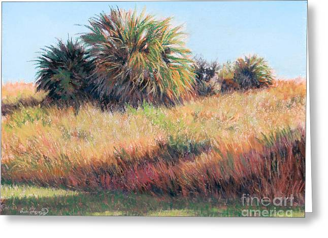 Warm Pastels Greeting Cards - Palmettos in Warm Light Greeting Card by Deb LaFogg-Docherty