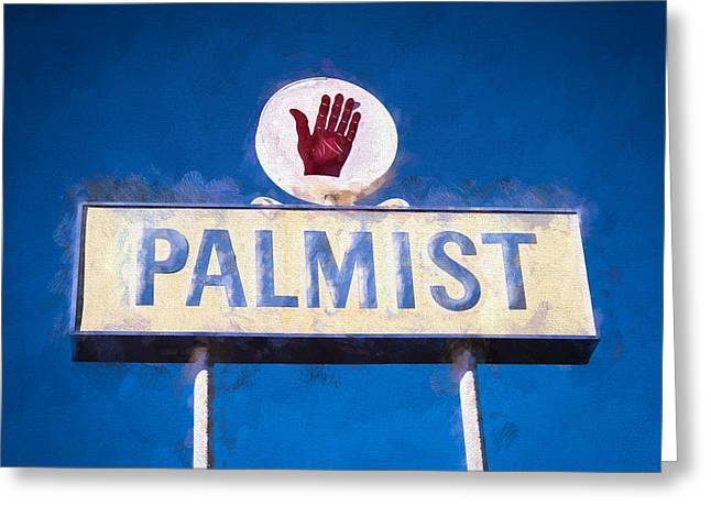 Palm Reader Hand Greeting Cards - Palmist Greeting Card by Vivian Frerichs