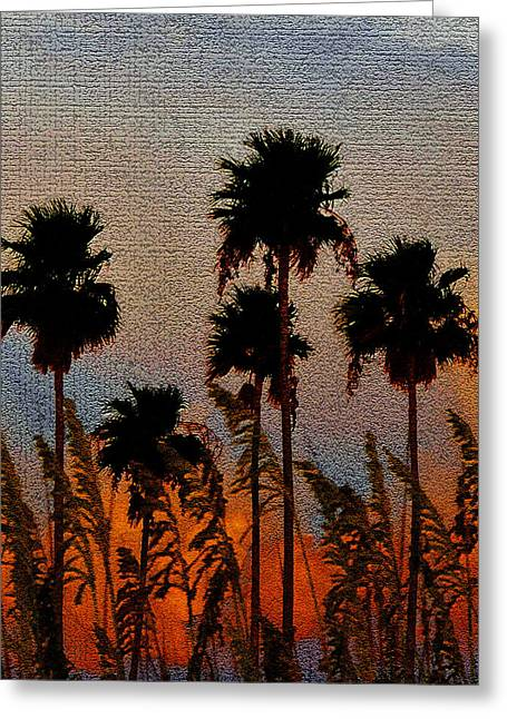 Oats Digital Greeting Cards - Palms and Sea Oats antique style A Greeting Card by David Lee Thompson