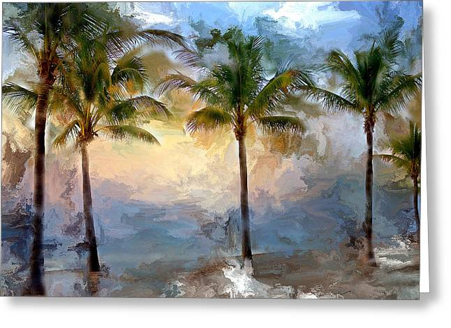 Palms At Fort Lauderdale Beach Greeting Card by Evie Carrier