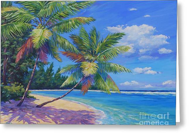 Palms At Winter Haven Greeting Card by John Clark