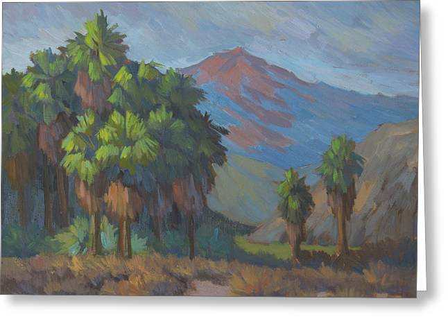Palm Springs Greeting Cards - Palms Grouped Together Greeting Card by Diane McClary