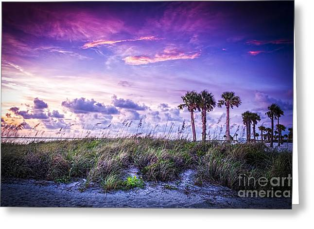 Thunder Cloud Greeting Cards - Palms on the Beach Greeting Card by Marvin Spates