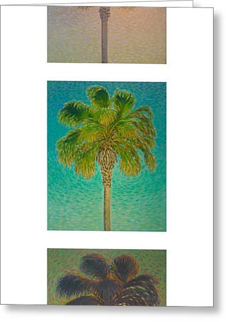 Sunset Prints Greeting Cards - Palms SeriesV Greeting Card by Don Young